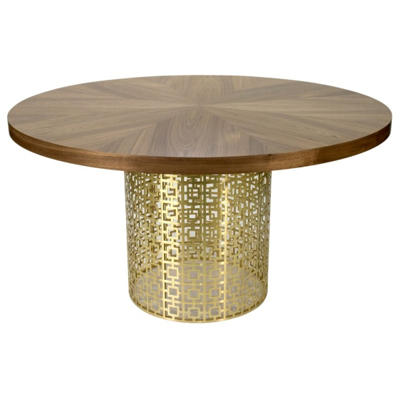 Jonathan Adler Nixon Brass Dining Table