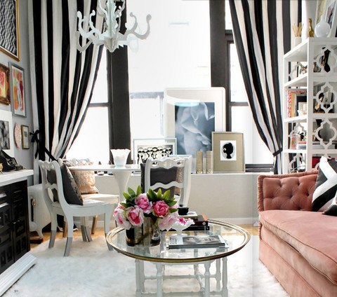 chic-modern-living-room-gray-black-white-pink-feminine-striped-drapes-1_large