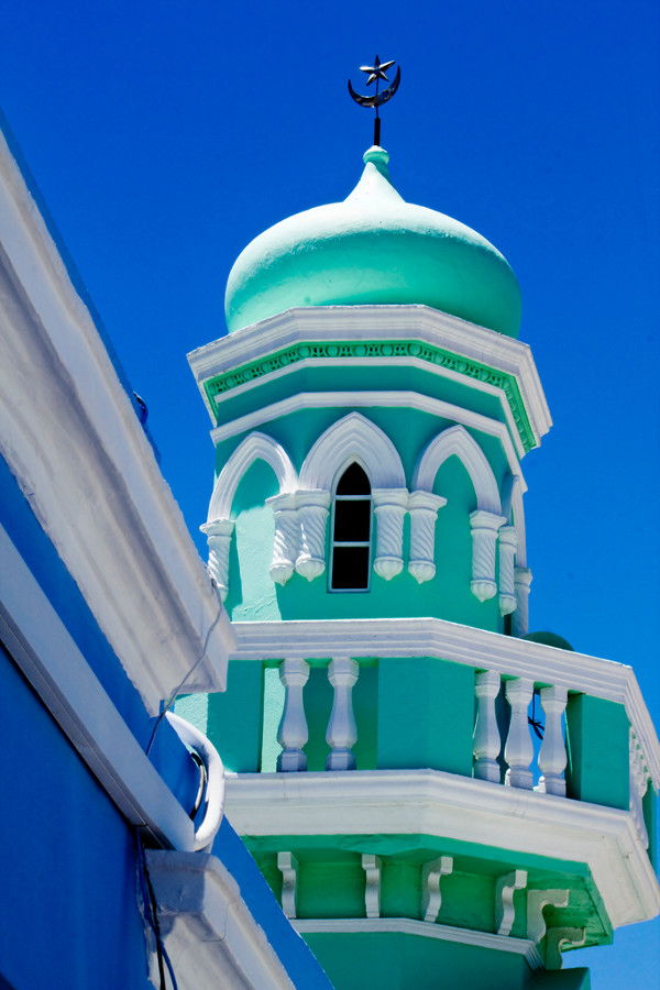Beautiful Green mosque at Bo Kaap- Cape town