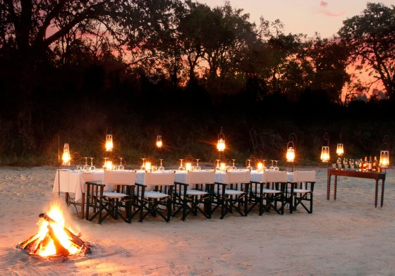 Dulini Bush Dinner setting
